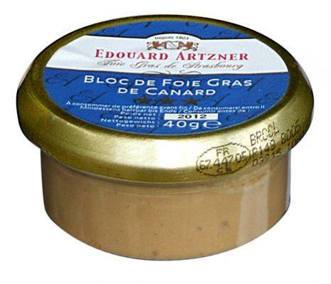 Edouard artzner bloc de foie gras de canard