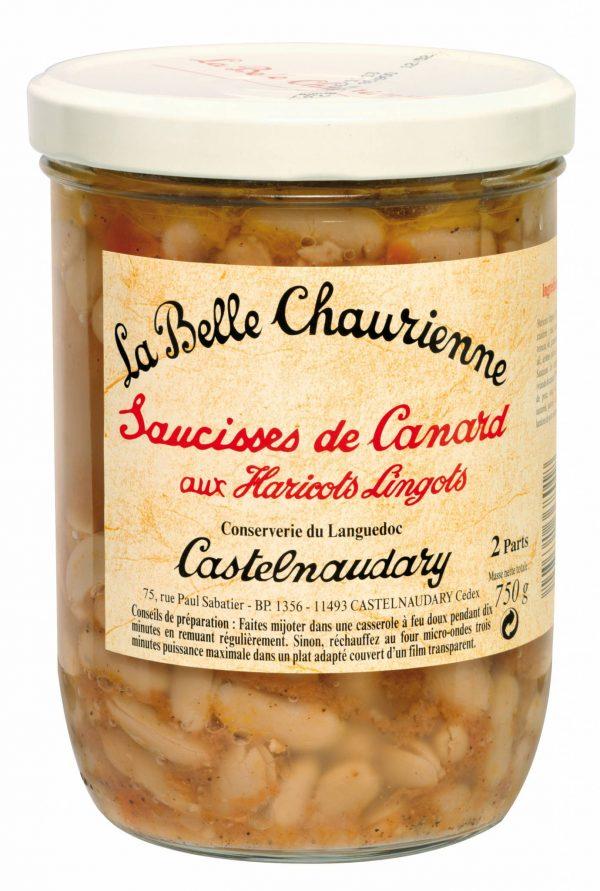 Saucisses Canard haricots g