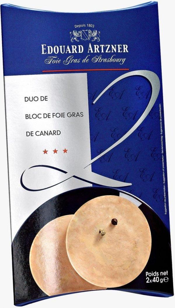 bloc de foie gras de canard mi cuit edouard artzner