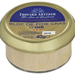 bloc de foie gras oie artzner