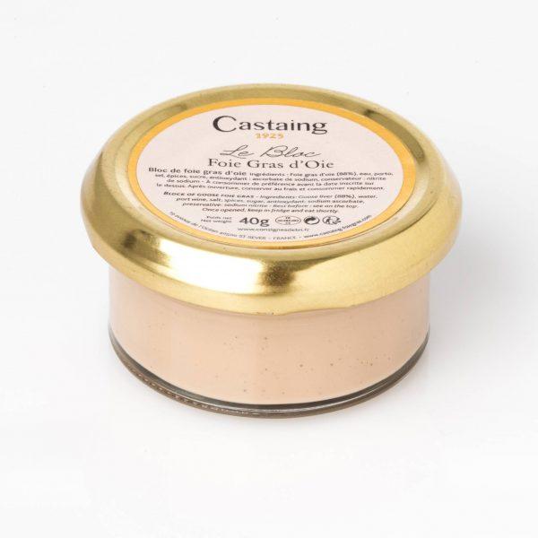 bloc foie gras oie verrine castaing