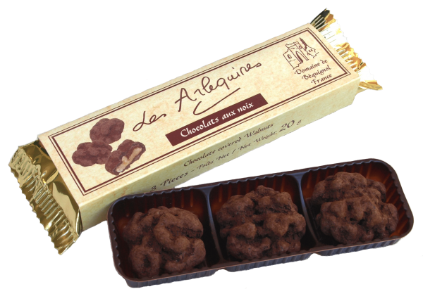 Petite Perigord Gold Chocolate Covered Walnuts (3 tray)