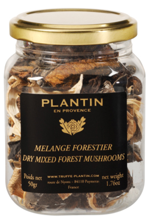 plantin dried wild mushrooms