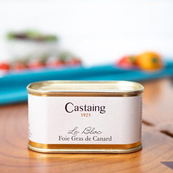 Castaing - Duck Foie Gras Bloc 130g tin