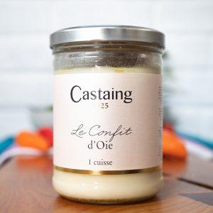Castaing - Goose Confit From South West France 1 Large Leg 620g jar