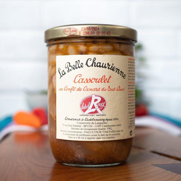 La Belle Chaurienne - Cassoulet Au Confit De Canard Du Sud Ouest 750g jar