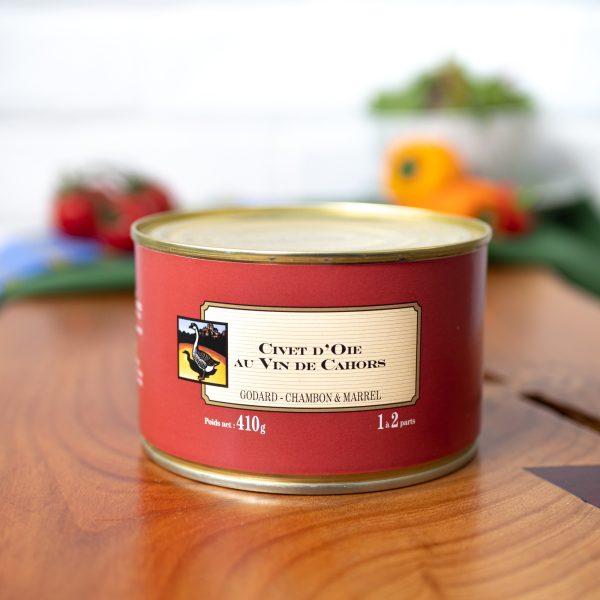 Maison Godard - Civet d'Oie Au Vin De Cahors 410g tin
