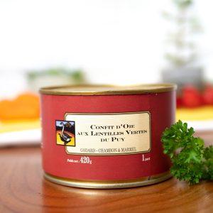 Maison Godard - Confit d´Oie Aux Lentilles Vertes Du Puy 420g tin