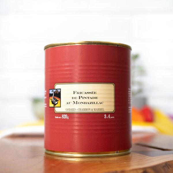 Maison Godard - Guinea-fowl Fricassee in Monbazillac Wine Sauce 820g tin