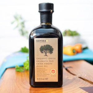 Odysea - Organic Greek Kalamata PDO Extra Virgin Olive Oil 500ml bottle